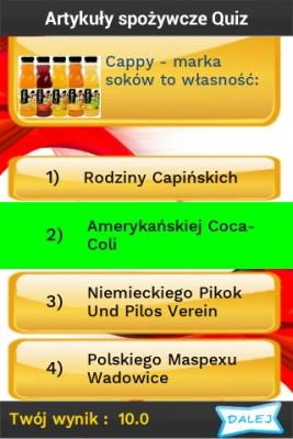 Polskie Marki Quiz pytanie